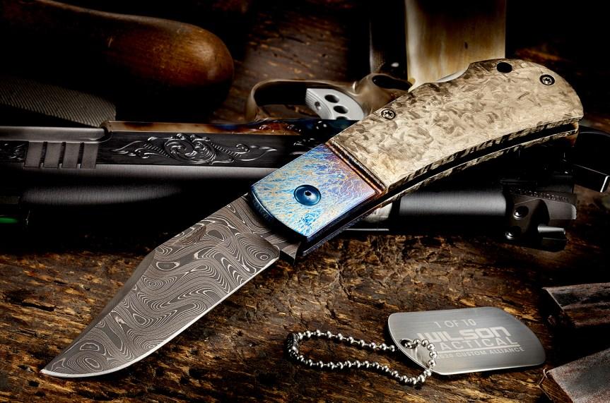 wilson combat damascus combat clip michael vagnino custom alliance knife 1