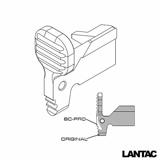 lantac bc-pro upgrade bolt catch ar-15 bolt catch 2