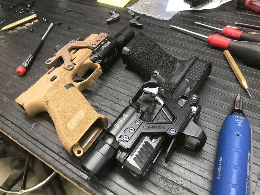 agency arms aom optic mount glock red dot mount picatiny mount optic pistol 3