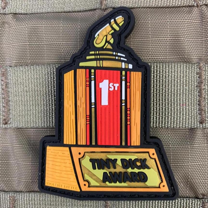 violent little machine shop tiny dick aware morale patch lil peepee 2