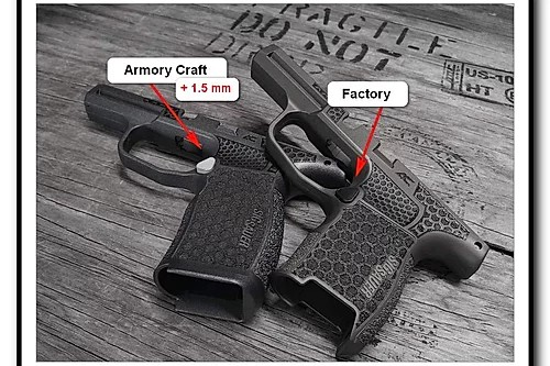 armory craft sig p365 extended magazine button 9mm 7