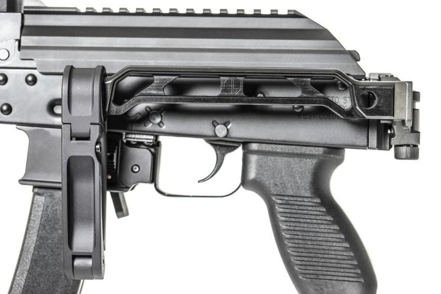jmac customs ab-8r arm bar pistol brace ak brace folding picatinny stock mount 1