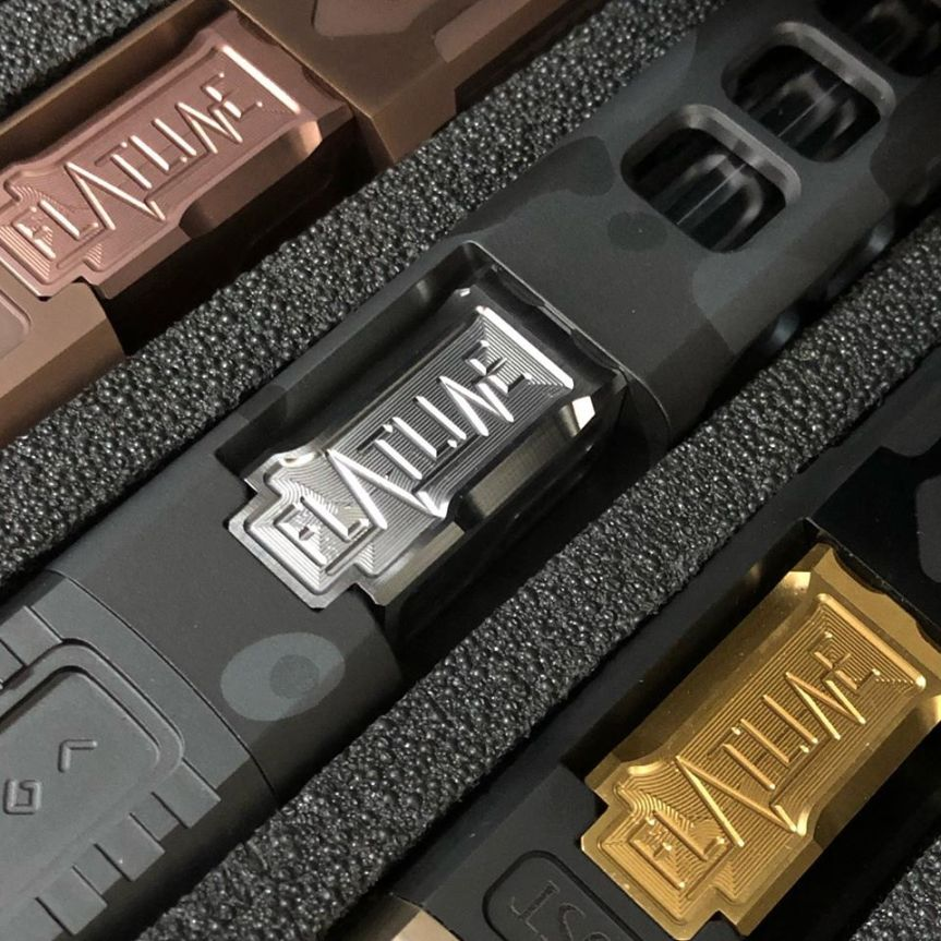 boogeyman customs flatline elite v.2 glock barrels custom glock barrel tin coated gold glock 3