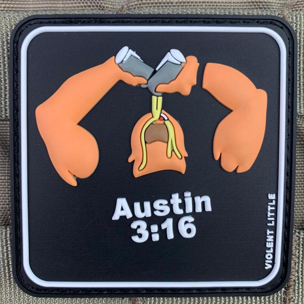 "VIOLENT LITTLE MACHINE SHOP DEBUTS THE ""STONE COLD"" STEVE AUSTIN MORALE PATCH"