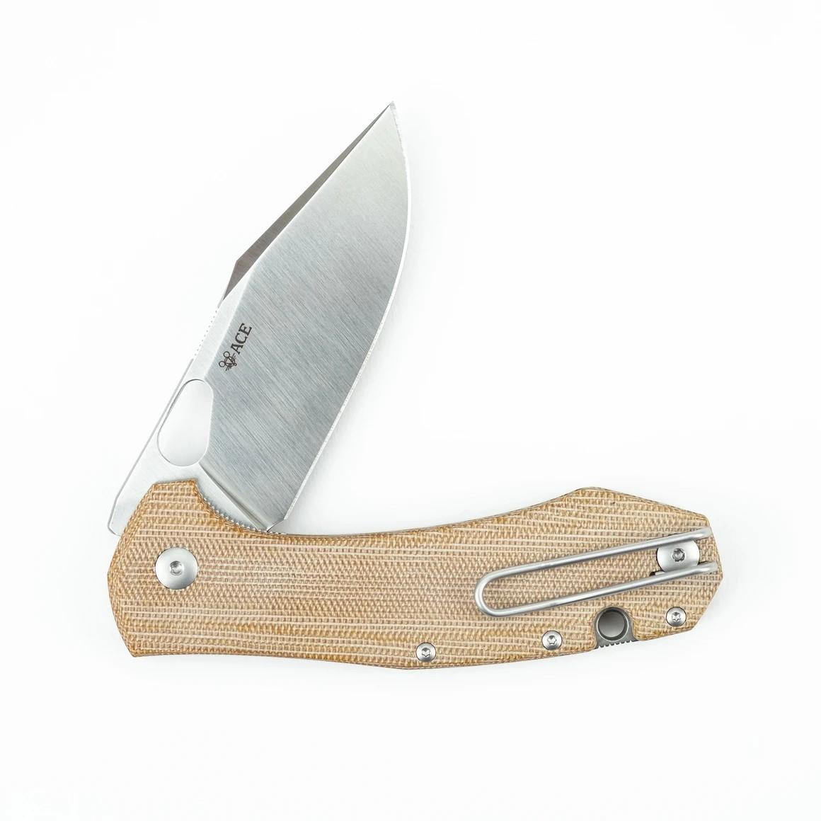 giantmouse knives ace grand micarta folder knife