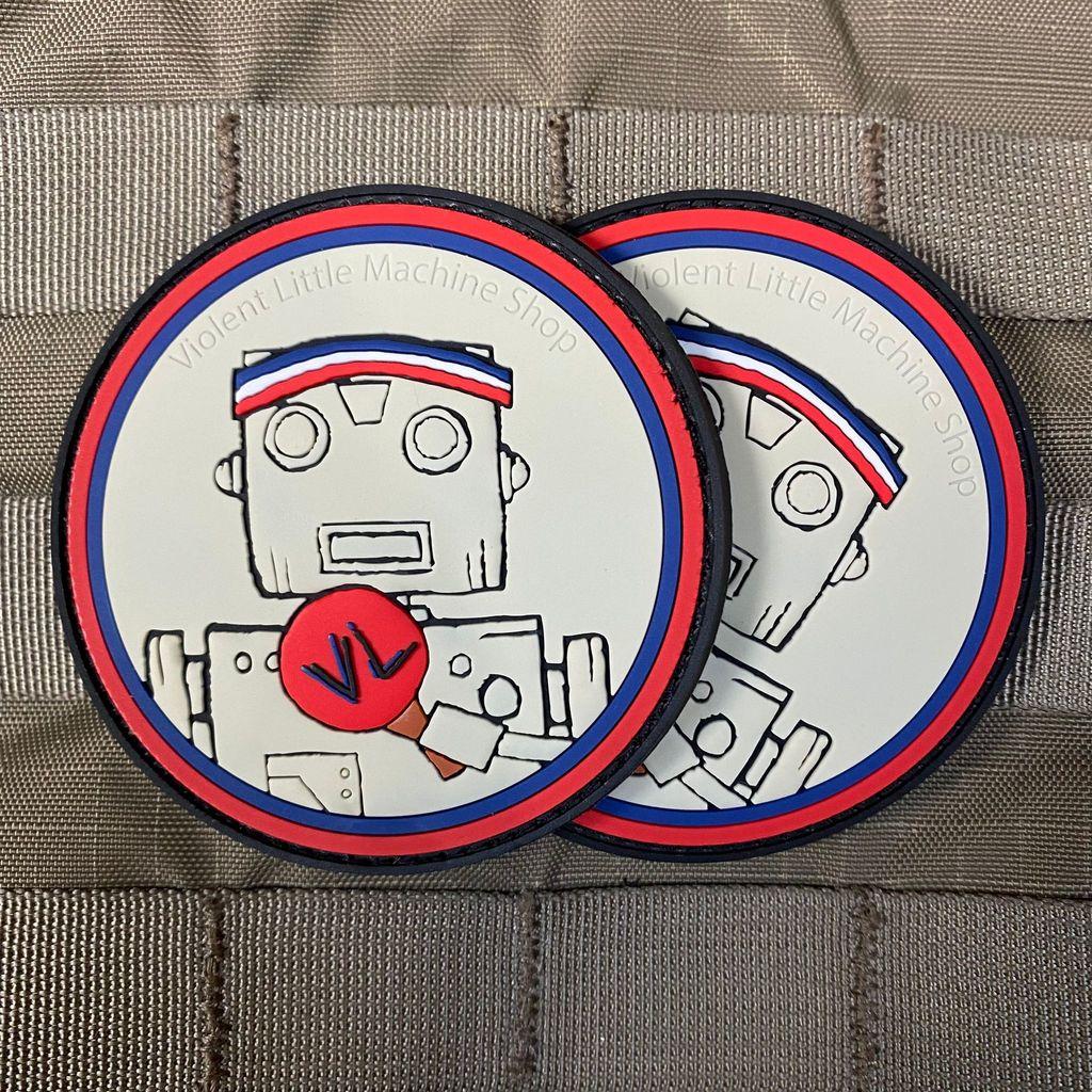 violent little machine shop vl retro ping pong patch morale patches