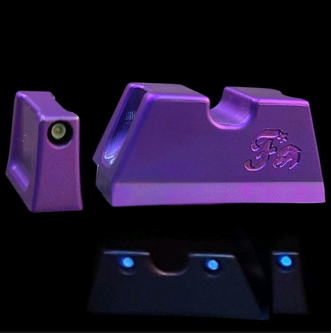 firing sqaud firearms griffworx titanium night sights glock 9mm 40sw