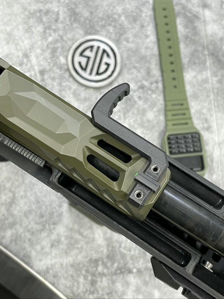 tactical development ripstick side charging handle p320 flux defense pistol brace raider