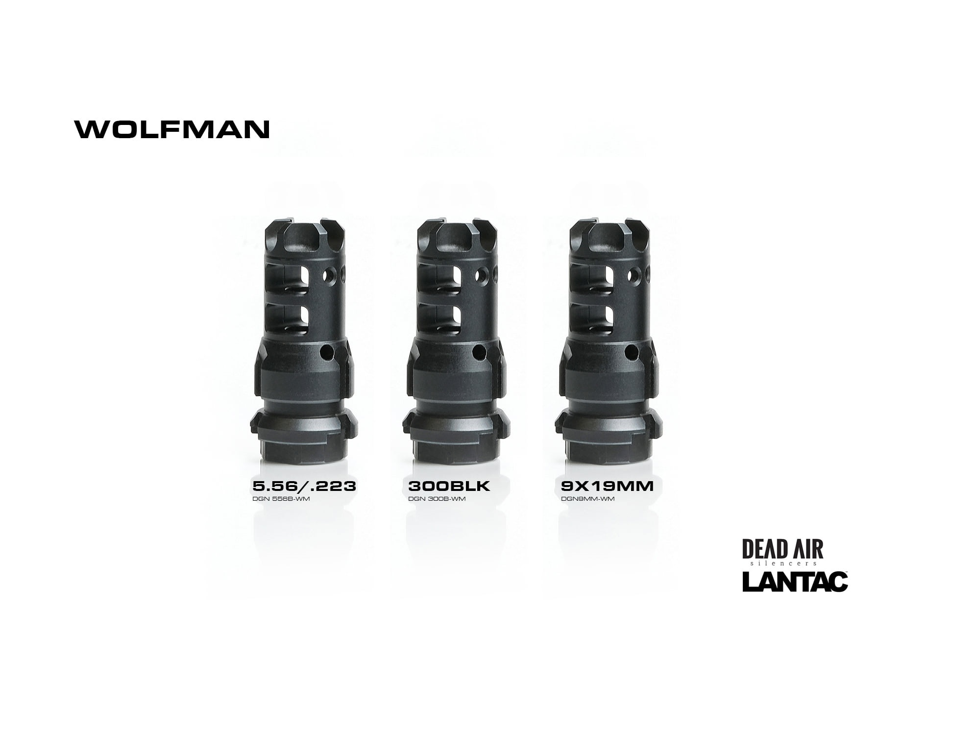LANTAC USA EXPANDS SUPPORT FOR DEAD AIR SILENCERS WITH NEW KEYMO WOLFMAN DRAGON MUZZLE BRAKES