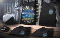 Fishin tank mockup