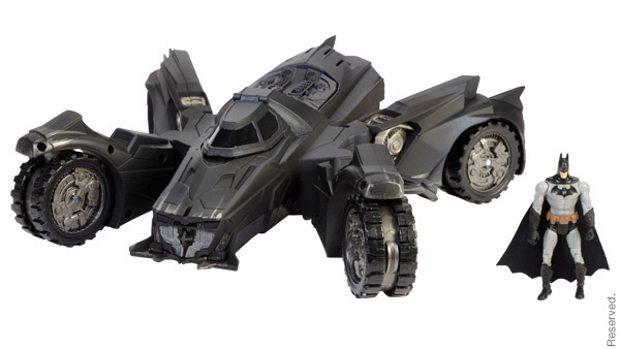 Batman Arkham Knights Batmobile Toy Debuts At Comic Con