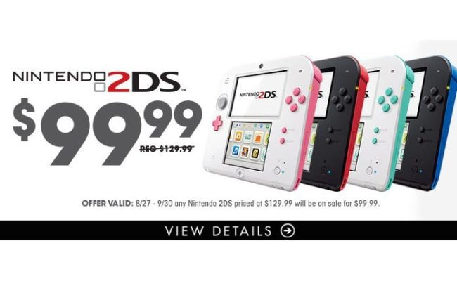 Gamestop Discounts Nintendo 2ds To 99 99 Attack Of The