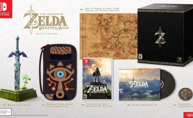 Zelda Breath Of The Wild Master Edition Is Very Limited