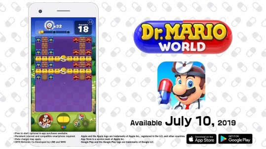Dr. Mario World release post