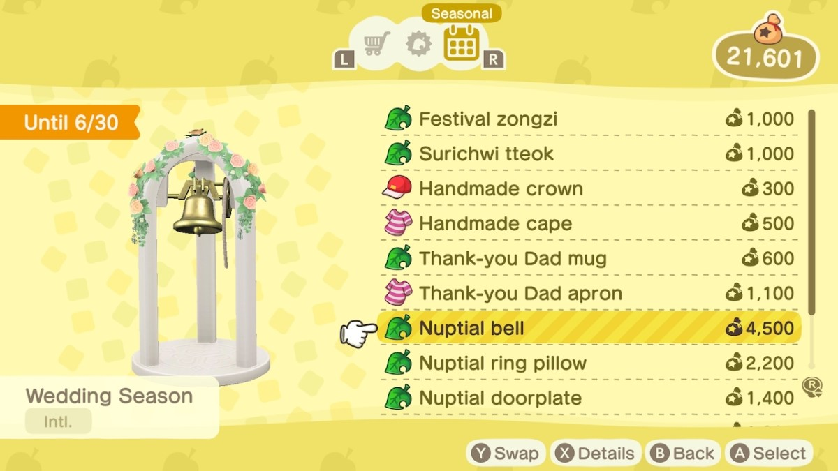 Animal Crossing New Horizons Wedding Season: How to Get the Nuptial Bell | Attack of the Fanboy