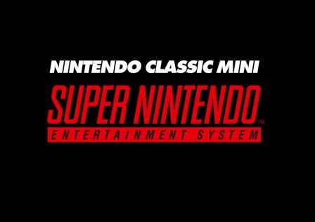 Nintendo Classic Mini SNES Logo – Dark Background