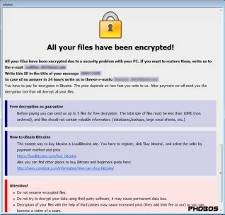 The ransomware attack encrypted all the hospital's files.