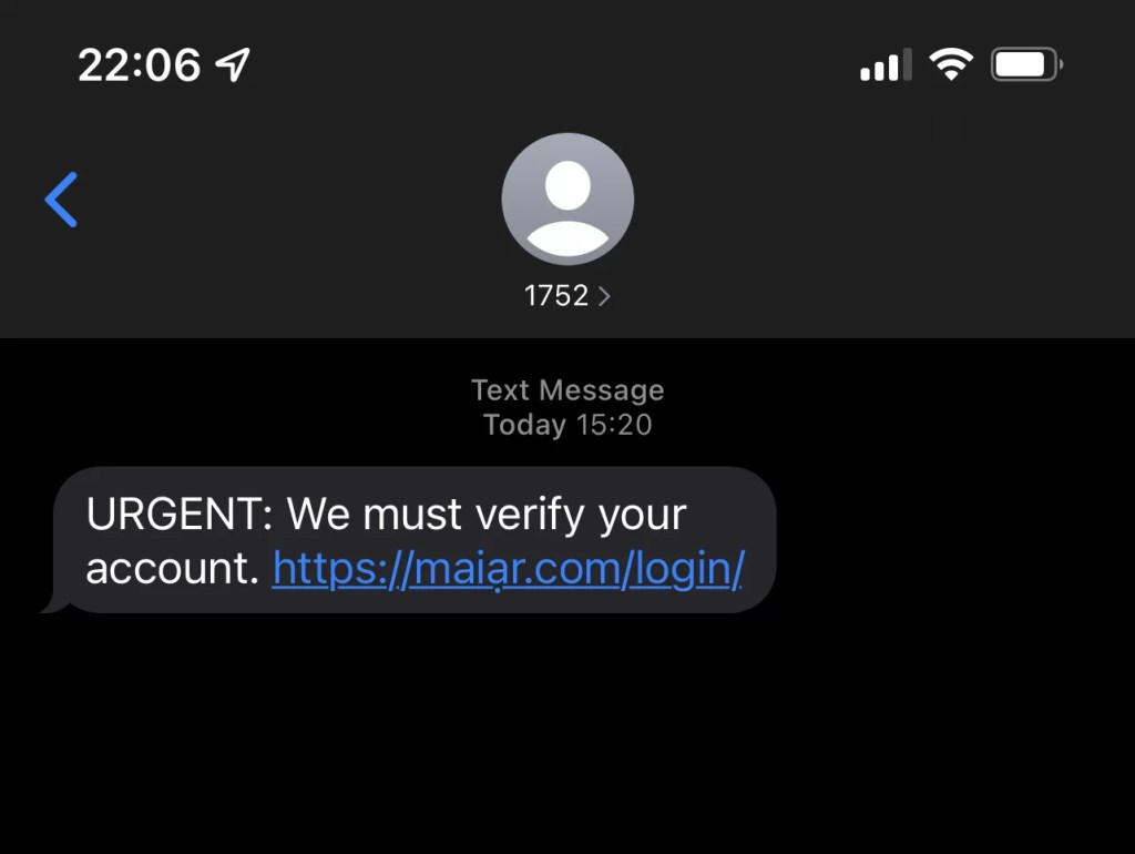 A punycode attack tries to scam Maiar users.