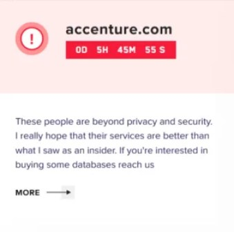 Threat actors launched a ransomware attack on Accenture and stole client and work-related data.