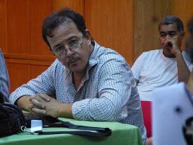 صورة مداخلة الرفيق عمر ازيكي الكاتب العام لجمعية اطاك المغرب في ندوة الشبكة الديموقراطية المغربية  للتضامن مع الشعوب حول المديونية