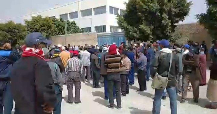 صورة جمعية أطاك المغرب تزور معتصما لشغيلة البناء بأكادير  تقرير حول زيارة اعتصام عمال شركة الولاف للبناء بأكادير