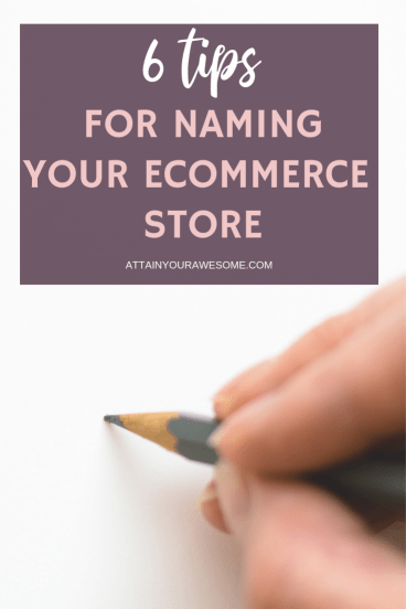 6 tips for naming your eCommerce Store
