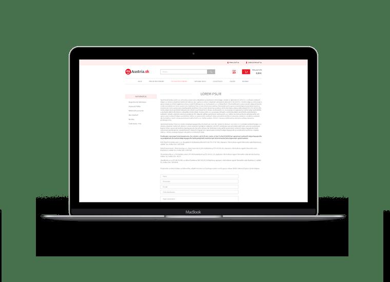 web design subpage
