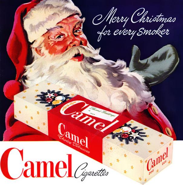 Aj Santa fajčí kamelky..