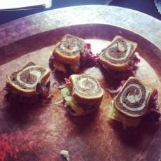 Mini Kobe pastrami on rye