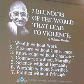 ghandi blunders of the world