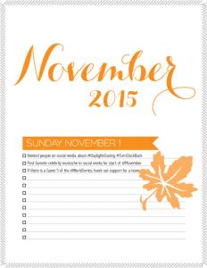 November marketing calendar