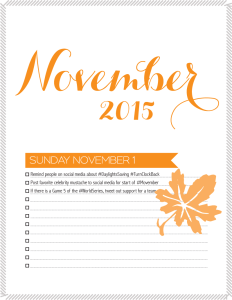 November marketing calendar
