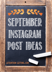 September instagram post ideas instagram picture ideas social media calendar