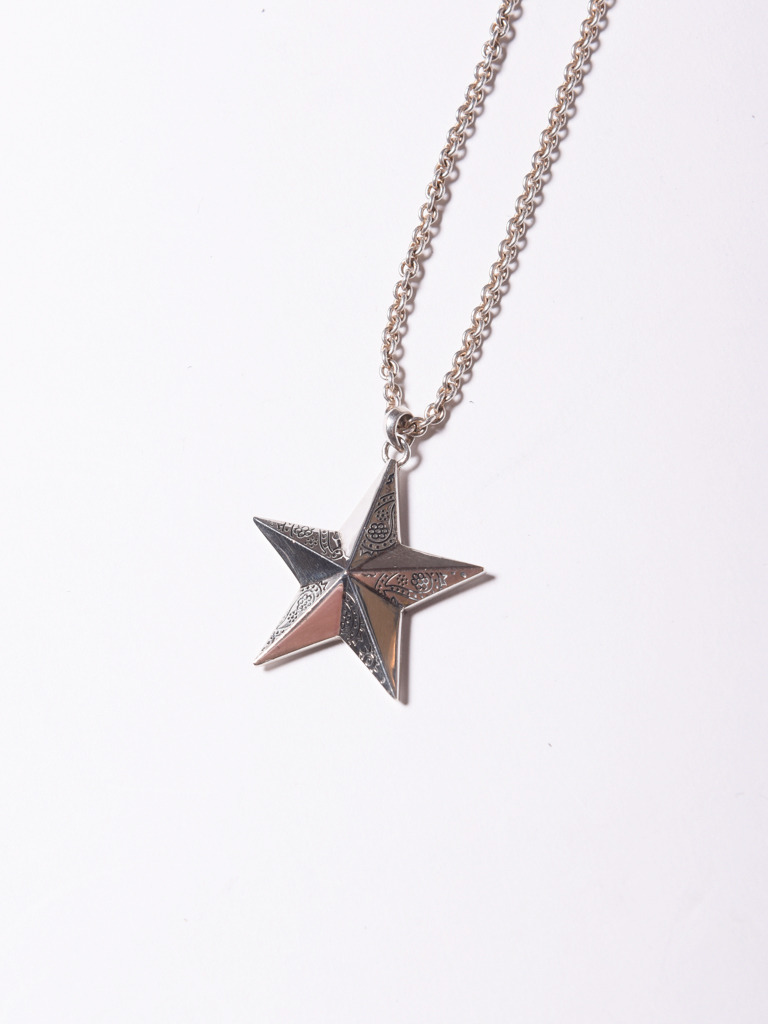 CALEE 「PAISLEY STAR HEAD NECKLACE 」 SILVER 925製 ネックレス MASH