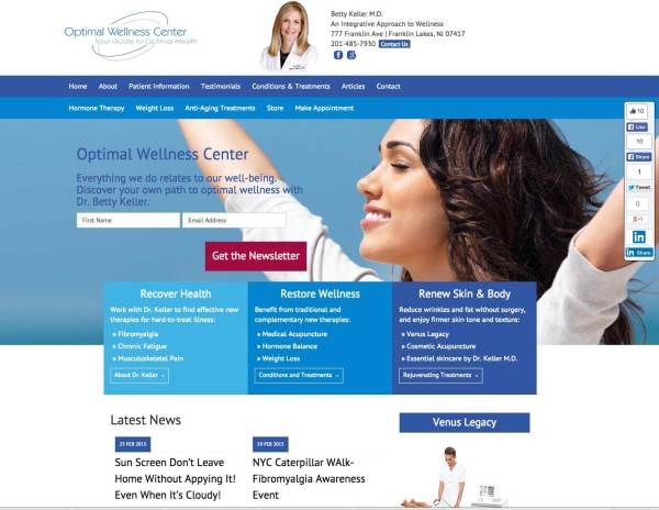 Optimal Wellness Center Website Redesign