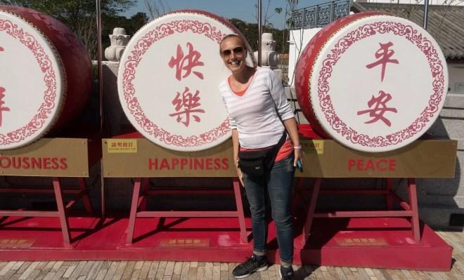 Chinesische Zeichen für Happiness und Peace