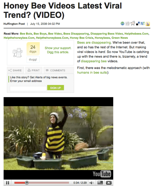 Gardening Bee at the HuffPo