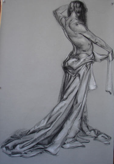 Charcoal drawing by Judith Reeve