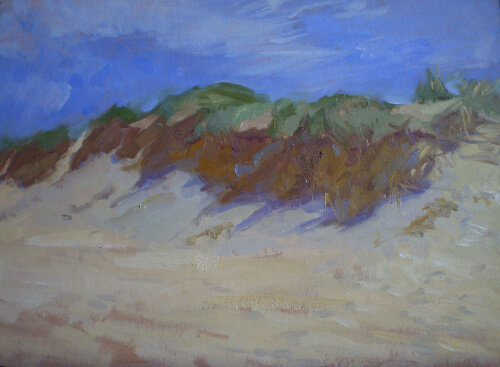 Dune Shadows, an oil painting by Judith Reeve