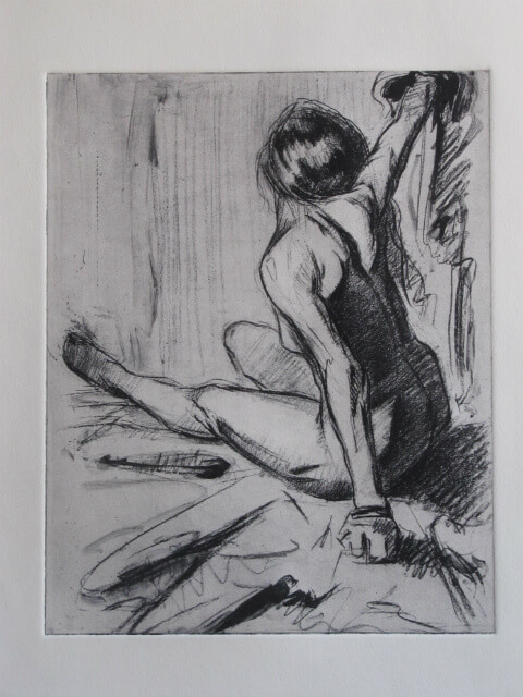 "Print of ""Nude, Arms Raised, "" by Judith Reeve"