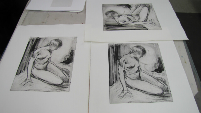 Prints on Press, work in process by Judith Reeve