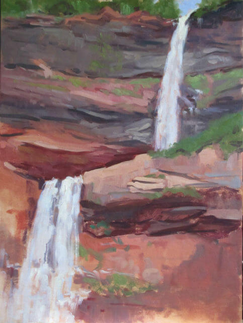 Kaaterskill Falls, a painting by Judith Reeve