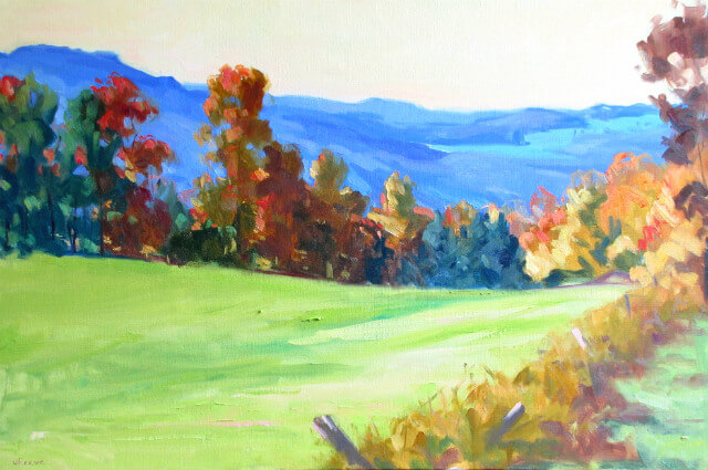 Autumn landscape painting by Judith Reeve