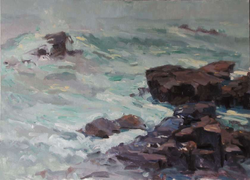High Surf, a painting by Judith Reeve