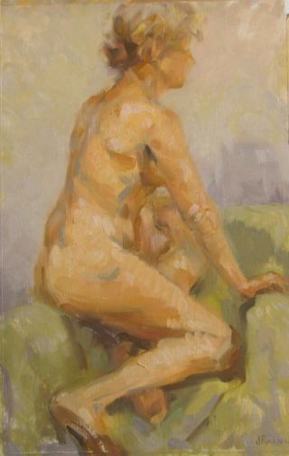 Nude Study, a painting by Judith Reeve