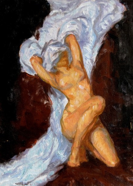 Kneeling Figure, a painting by Judith Reeve