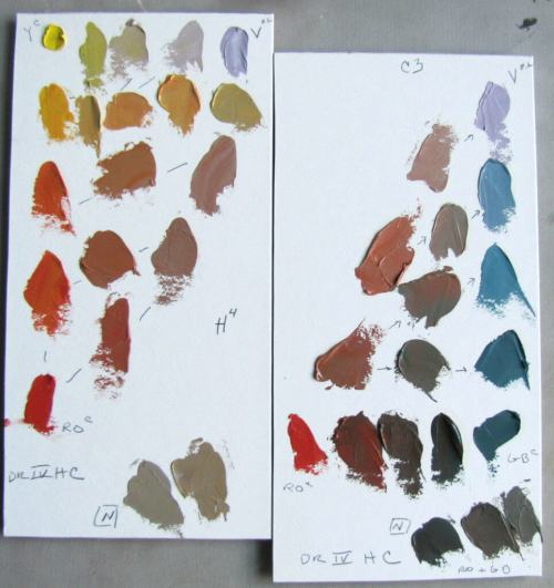 Denman Ross palette demonstration.