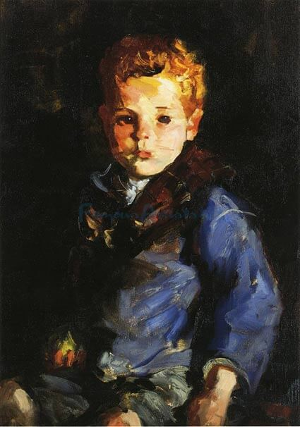 "Robert Henri, ""Irish Boy in Blue Denim"""