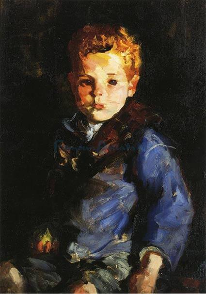 "Robert Henri, ""Irish Boy in Blue Denim"""