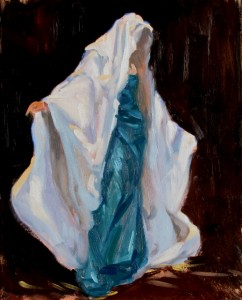 Draped Figure in White
